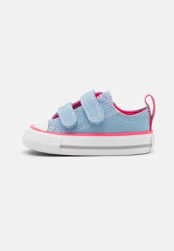 Converse - CHUCK TAYLOR ALL STAR 2V SEASONAL COLOR - Sneakers laag - sea salt blue/bold pink/white
