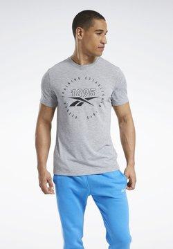 Reebok - GRAPHIC SERIES SPEEDWICK TEE - Camiseta estampada - grey