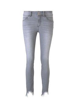 TOM TAILOR - TOM TAILOR JEANSHOSEN ALEXA SKINNY JEANS MIT FRANSEN - Jeans Skinny Fit - clean light stone grey denim