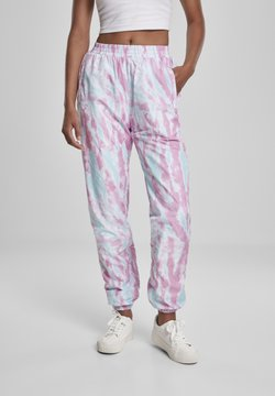 Urban Classics - FRAUEN  - Jogginghose - aquablue/pink