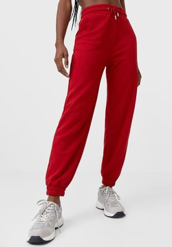 Stradivarius - Jogginghose - red