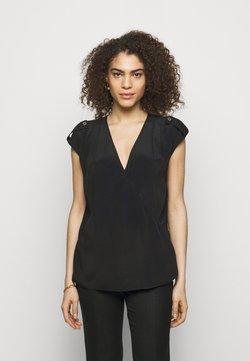 LIU JO - INCROCIATO - T-shirt con stampa - nero