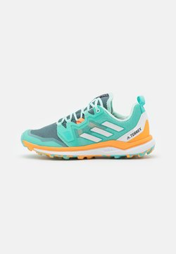 adidas Performance - TERREX AGRAVIC TRAIL RUNNING - Zapatillas de trail running - acid mint/crystal white/haze orange