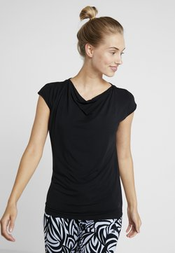 Curare Yogawear - WASSERFALL - T-paita - black