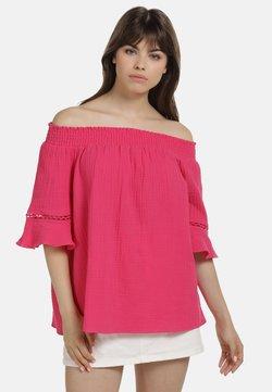 myMo - OFF-SHOULDER BLUSE - Bluse - pink