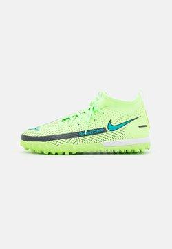 Nike Performance - JR PHANTOM GT ACADEMY DF TF UNISEX - Hiekkakengät - lime glow/aquamarine