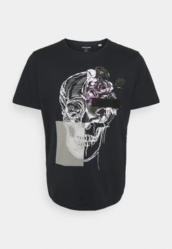 Jack & Jones - JORMATT TEE CREW NECK - T-shirt imprimé - black