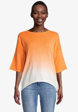 Cartoon - Strickpullover - white orange
