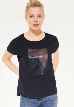 comma casual identity - LAYER MIT CHIFFON-FRONT - T-Shirt print - marine layered placed print