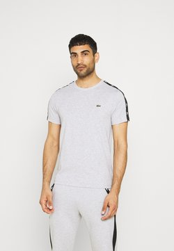 Lacoste Sport - T-shirt imprimé - silver chine/black