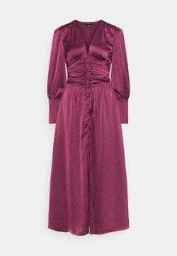 Who What Wear - EMPIRE WAISTED DRESS - Vestido largo - deep berry