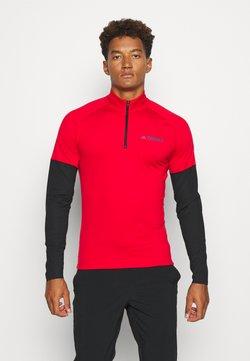 adidas Performance - TECHNICAL AEROREADY X-COUNTRY SKIING - Koszulka sportowa - scarle/black