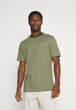 Lyle & Scott - ARCHIVE STRIPE - T-Shirt print - moss