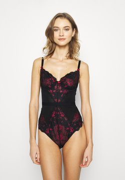 Pour Moi - AMOUR UNDERWIRED BODY - Body - black/red