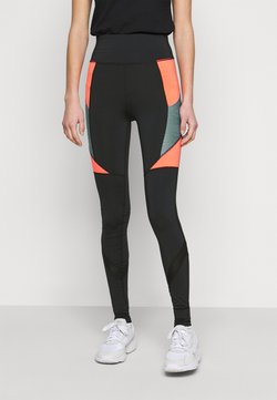 ONLY PLAY Tall - ONPALANI TRAINING TIGHTS - Legging - black/goblin blue/fiery coral