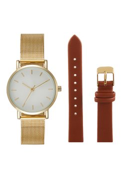 Even&Odd - SET - Zegarek - cognac/gold-coloured