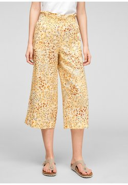 s.Oliver - Stoffhose - sunlight yellow aop