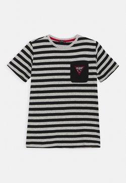 Guess - JUNIOR - T-shirt z nadrukiem - black/grey