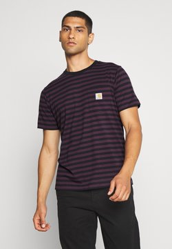 Carhartt WIP - PARKER POCKET - T-shirt print - dark navy/boysenberry