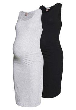 Anna Field MAMA - 2 PACK - Vestido de tubo - light grey/black