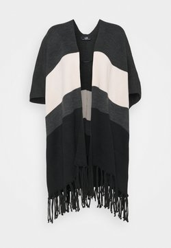 Wallis - STRIPE FRINGE TASSLE WRAP - Sweatjacke - black