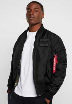 Alpha Industries - REVERSIBLE TEDDY - Bombertakki - black