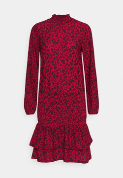 Dorothy Perkins - SHEERED MINI ANIMAL - Vestido ligero - red