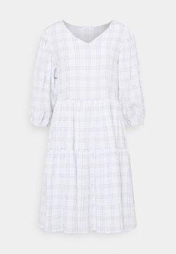 Marc O'Polo DENIM - WIDE SLEEVES DRESS WITH CHECK - Freizeitkleid - scandinavian white