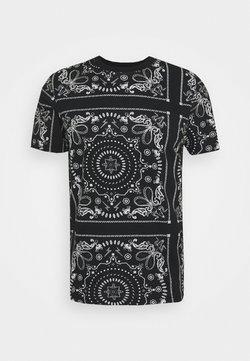 Brave Soul - FENDER - T-Shirt print - jet black/optic white/grey