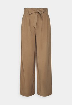 ONLY - ONLAMINTA ARIS LIFE WIDE PANT - Pantaloni - walnut