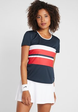 Fila - SAMIRA - T-Shirt print - peacoat blue/red