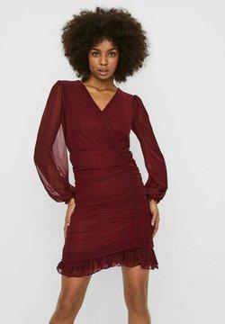 Vero Moda - WICKEL - Cocktailkleid/festliches Kleid - cabernet