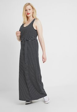Urban Classics Curvy - LADIES LONG RACER BACK DRESS - Maxikleid - black/charcoal