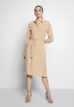 Benetton - DRESS - Blusenkleid - beige