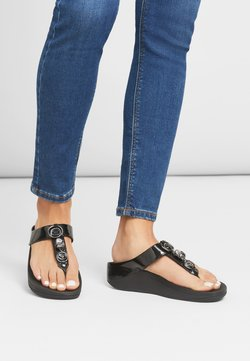 FitFlop - FINO - Zehentrenner - all black