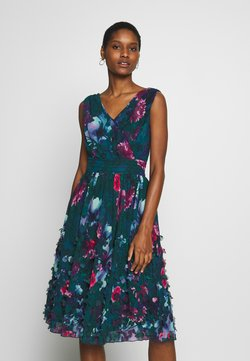 Apart - EMBROIDERED DRESS - Sukienka koktajlowa - petrol/multicolor