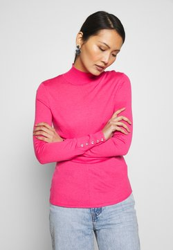 Esprit Collection - FITTED HIGH NEK - Trui - pink