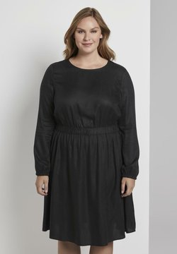 MY TRUE ME TOM TAILOR - FLUENT ELASTIC WAIST DRESS - Freizeitkleid - black