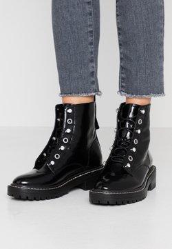 ONLY SHOES - ONLBOLD LACE UP BOOTIE - Botines con cordones - black