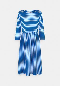 TOM TAILOR DENIM - STRIPED DRESS - Jerseykleid - mid blue