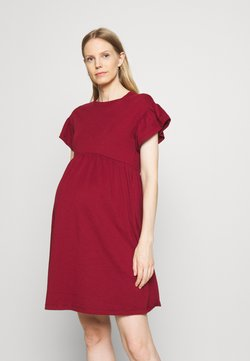 ONLY - OLMMAY NEW LIFE CUTLINE DRESS - Robe en jersey - pomegranate