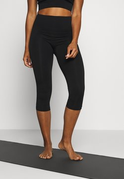 Filippa K - CROPPED SEAMLESS LEGGING - 3/4 Sporthose - black