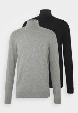 Pier One - 2 PACK - Trui - black/mottled light grey