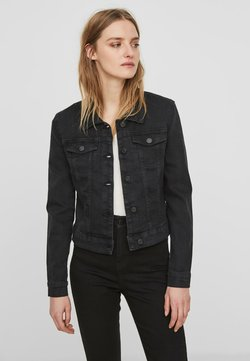 Noisy May - NMDEBRA L/S DENIM JACKET - Veste en jean - black