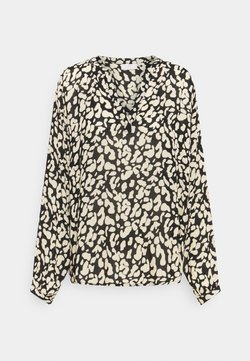 Kaffe - TURBO BLOUSE - Langarmshirt - black/beige