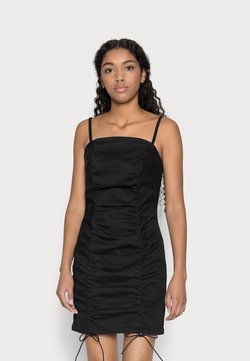 Topshop Petite - RUCHED BODYCON DRESS - Cocktailkleid/festliches Kleid - black