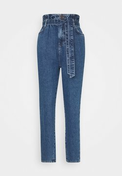 New Look - BAG TIE MERCURY - Relaxed fit jeans - mid blue