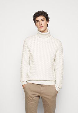 Michael Kors - CABLE TURTLE - Strickpullover - bone