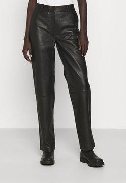 2nd Day - TIMEA - Pantalon en cuir - jet black
