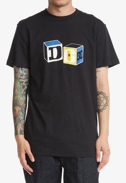 DC Shoes - BUILDING BLOCKS  - T-shirt print - black